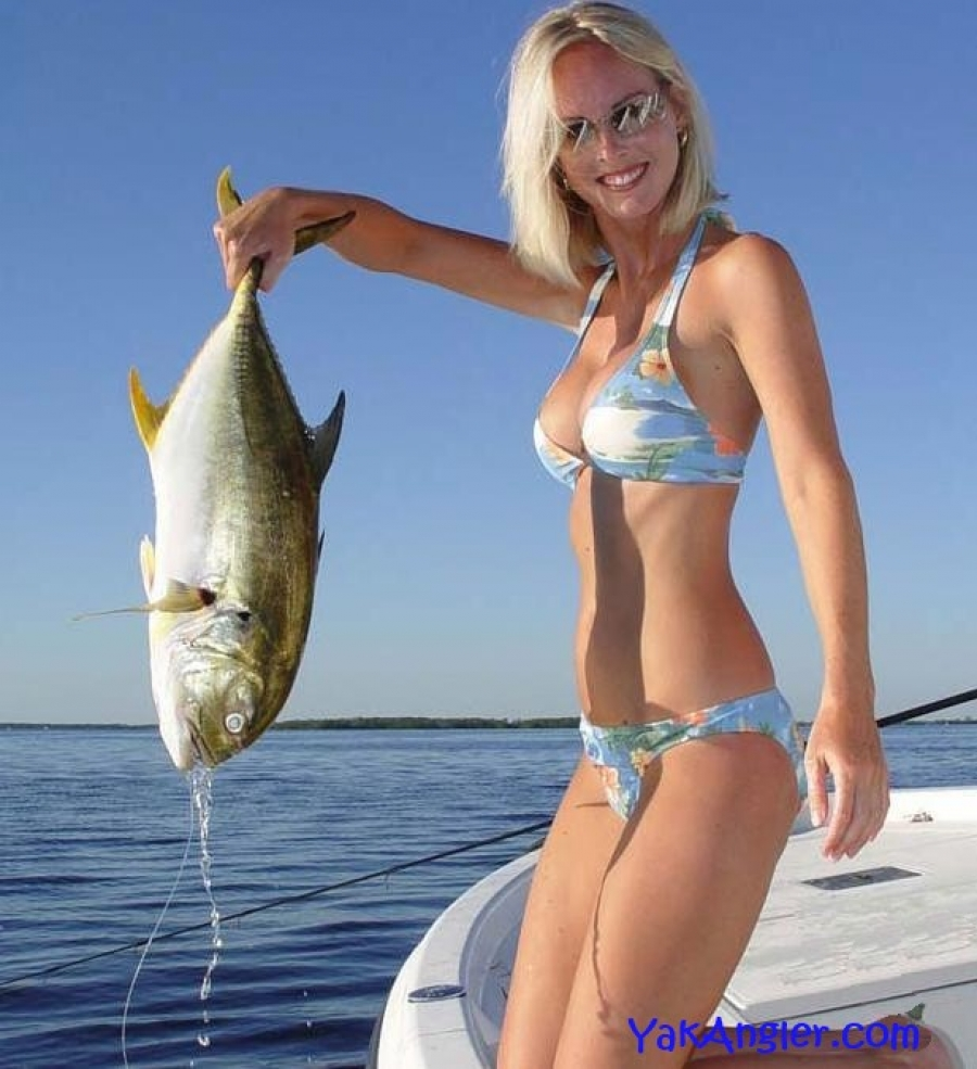 women fishing lure