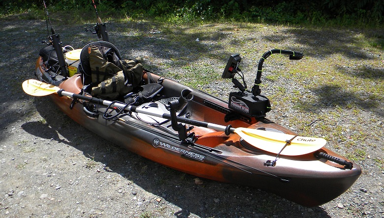 How to mount fish finder on ride 115 1 1 yakangler for Kayak fish finder install