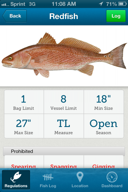 Fishrules fish rules app review for Florida temporary fishing license