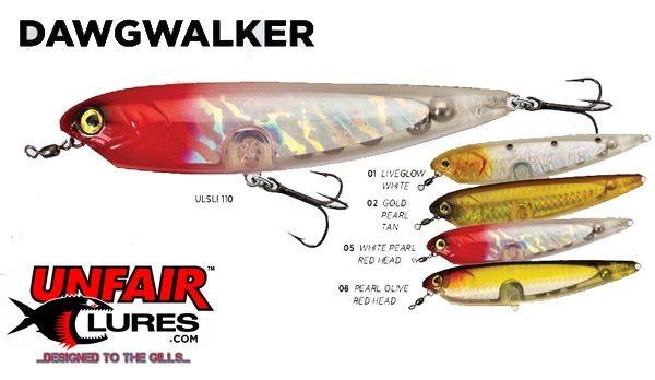 Unfair lures dawgwalker saltwater lure reviews for Snook fishing lures