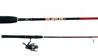 bass pro shops brawler spinning combo