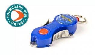 Boomerang line cutting tool