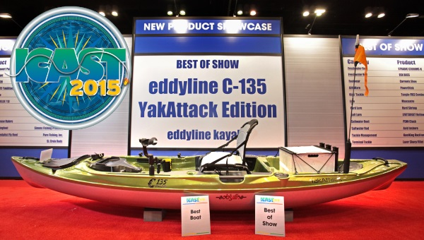 Eddyline Kayaks C-135 wins best of show at ICAST 2015