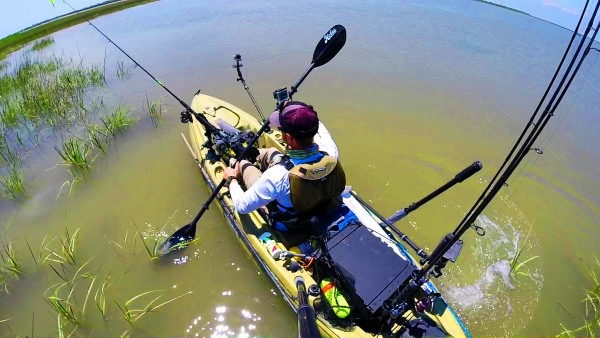 Filming from a kayak